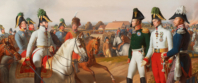 Declaration of victory after the Battle of Leipzig on 18 October 1813