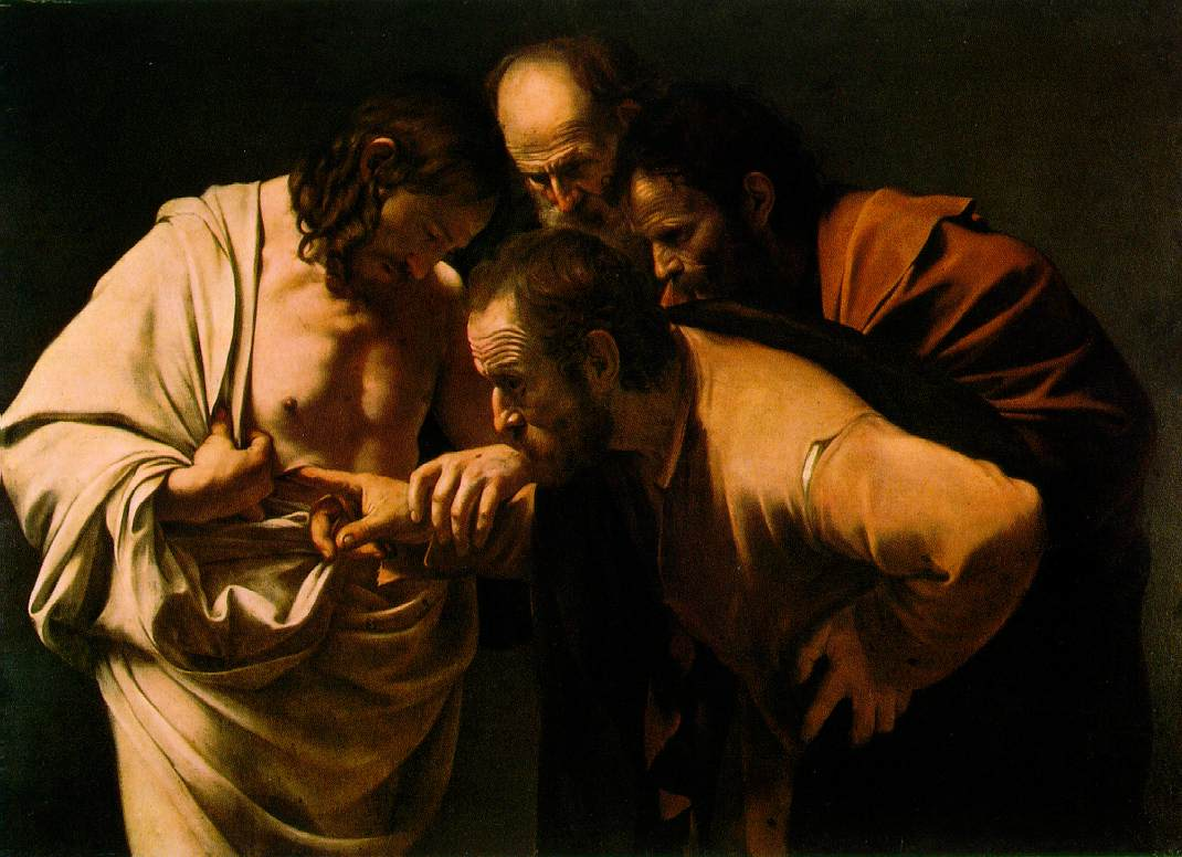 The incredulity of Saint Thomas - Caravaggio